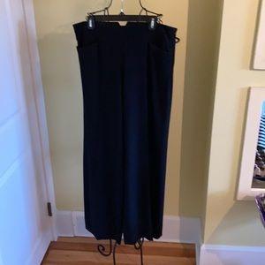 Donna Karan Collection Wide Leg Black Pants Sz 14
